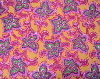 Floral Paisley - Poly Knit Fabric