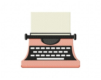 Peachy Blank Typewriter Machine Embroidery Design