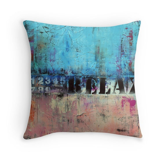 Baby Blue And Brown Throw Pillows : Items similar to Pink Blue Throw Pillow, Coral Pink, Baby Blue, Dusty Blue, Urban Design, Pillow ...