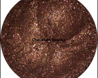 Chocolate Sparks Loose Mineral Eyeshadow Makeup Eye Shadow Vegan 1 gram