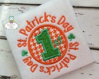 First St Patricks Day Boy Version St Patricks Day Shirt or Bodysuit, First St Patricks Day, First St Patty's Day, Boy 1st St Patricks day