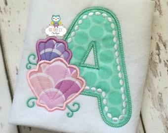 Seashell Alpha, Beach Theme Shirt or Bodysuit, Summer Vacation Shirt