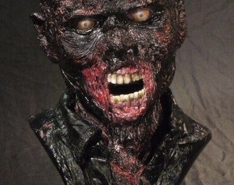 Walking Dead burned zombie 1:1 scale life size bust