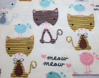 Flannel Fabric - Cats Meow - 1 yard - 100% Cotton Flannel