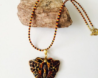 Monarch Butterfly Necklace.