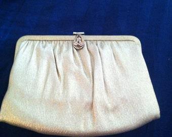 Vintage Gold Shimmery Clutch/Purse