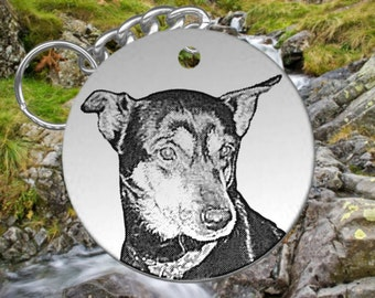 New Size! Big Round Picture Photo Keychain of your Pet, DOG or CAT, Great Gift!