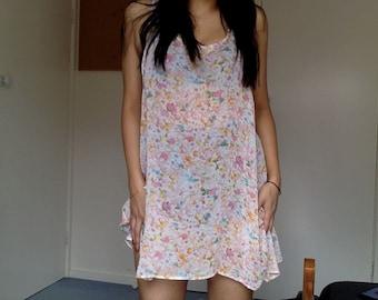 90s floral summer dress/ tank