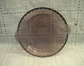 Cranberry Pyrex Glass Pie Pan