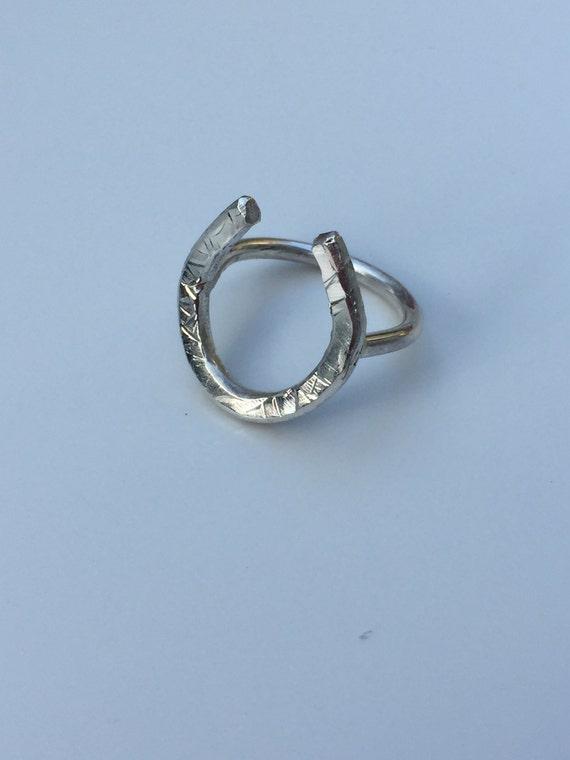 silver horseshoe ring images