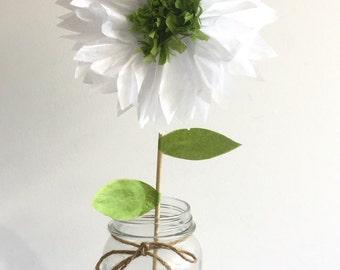 Set of 10 tissue paper pom flowers,centerpiece,baby shower,party decorations,flower pom poms,nursery decor,nursery poms,wedding centerpiece