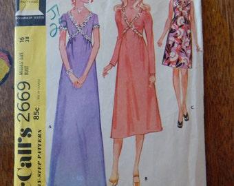 McCall's 2669 Vintage fancy dress pattern in three lengths Size 16