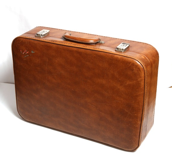 Valises de sacs de vol en cuir vintage