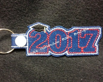 2017 Graduation SNAP Key Fob In The Hoop - DIGITAL Embroidery DESIGN