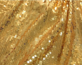 15 Colors 1Yard sequin Fabric, 3mm Sequins Embroider on Polyester Mesh, Shiny and Sparkly Fabric, Costume and Dress Fabric