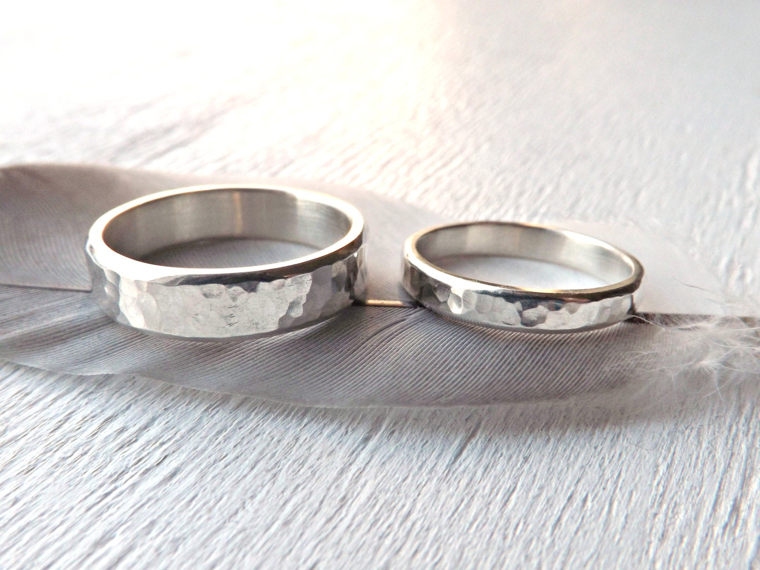 silver wedding bands unique personalized rings silver