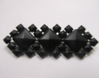 Victorian Black Geometric Design Pin Item W-#360
