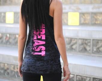 Beast Tank Top. #BEAST Tank. Womens Burnout Tank Top. Cross Training Tank Top Shirt. Womens Workout Tank Top. #Beast-Tank-Top.
