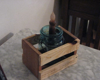 Small rustic crate