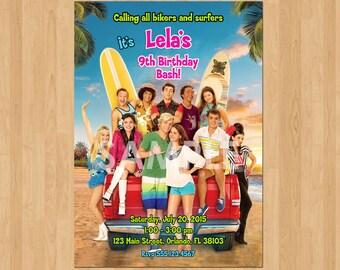 Teen Beach 2 Invitation, Teen Beach Movie Invitation Printable, Teen Beach Movie Birthday Invitation, Personalized Teen Beach 2 Party Invite