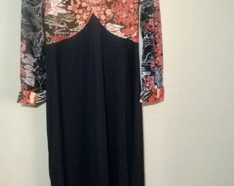 Vintage 1970s Eclectic Forest Maxi Style Dress