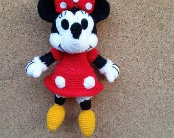 Crochet dolls, Minnie mouse,Key chain.