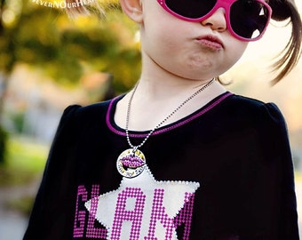 Personalized Hand Stamped Lips Kiss My Sass Necklace