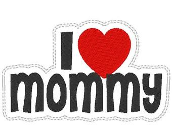 I Love Mommy Headband Slider design Instant Download