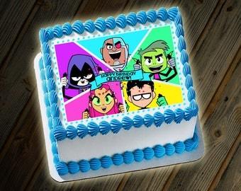 Teen Titans Go Cake Custom Digital File