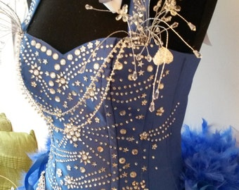 Kylie showgirl corset costume made to measure tribute artist quality, just stunning