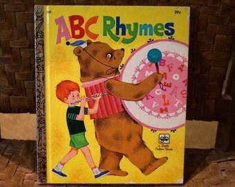 Vintage Little Golden Book 1972, A B C Rhymes