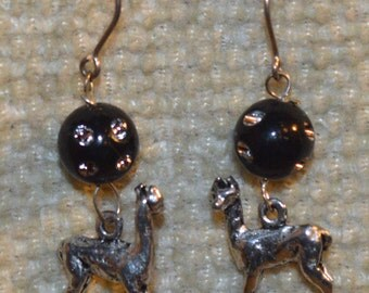 Alpaca earrings for pierced ears.
