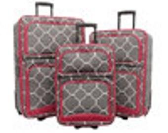 Items Similar To Vintage Hot Pink Samsonite 3 Piece