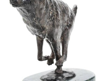 "Edward Vandaele ""Wolf"" Beautiful Bronze Sculpture -Signed"