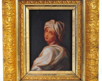 Beatrice Cenci 18th century Oil Painting after Guido Reni-Nice!
