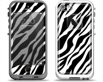 The Simple Vector Zebra Animal Print Apple iPhone LifeProof Case Skin Set