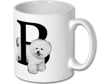 B for Bichon Dog Mug