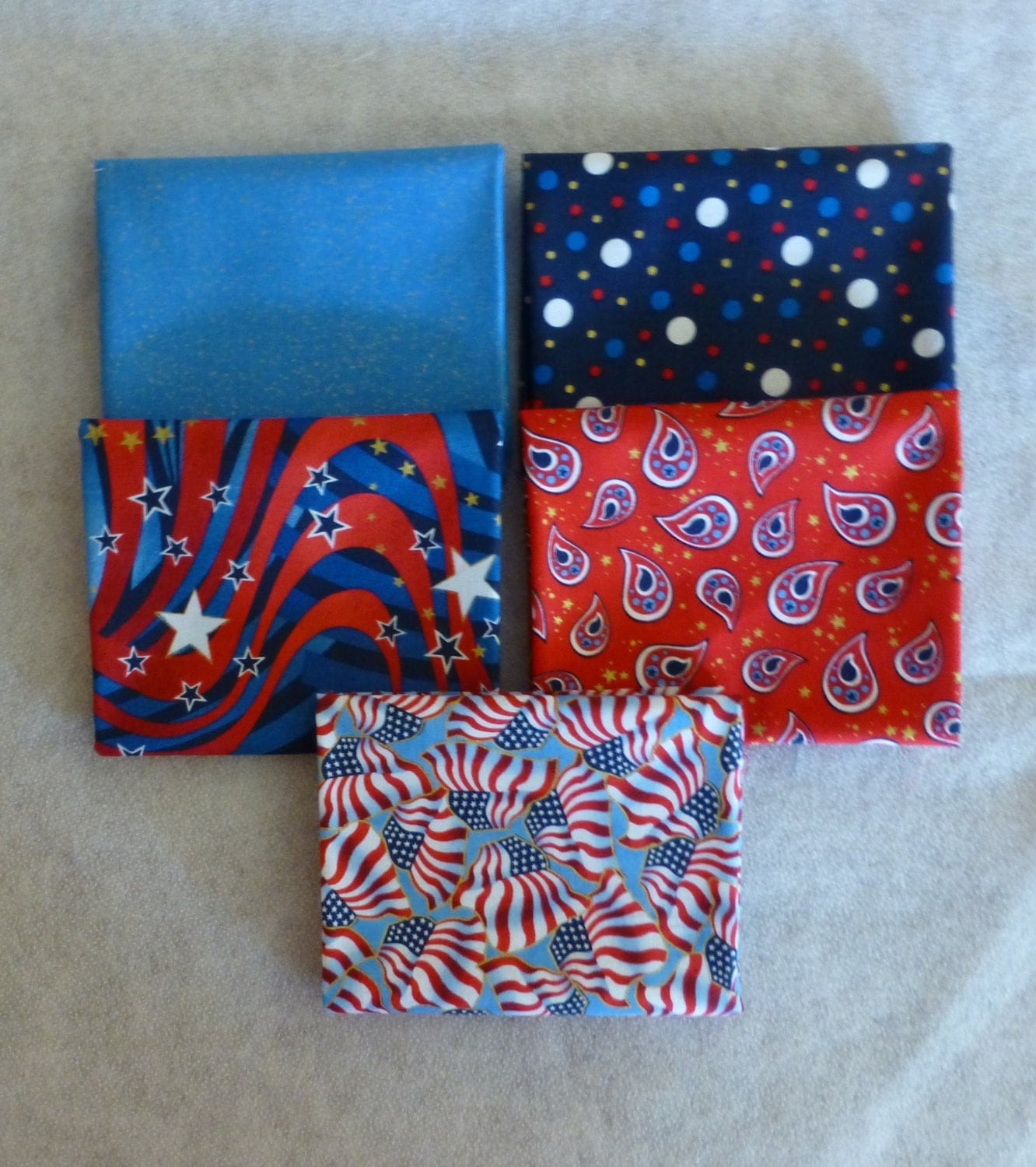 Cotton fabric home decor quilt patriotic by for Patriotic home decorations