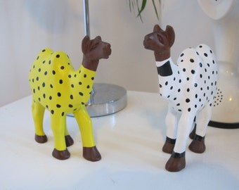 FREE SHIPPING** Colin the Camel in his winter onesie. Painted carved wooden animal figure **SALE**