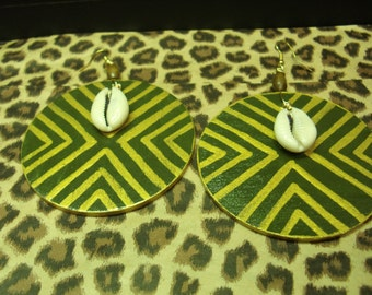 57- Hand Painted Wooden Earrings