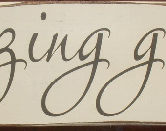 Amazing Grace distressed wood sign