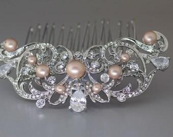 Vintage Bridal Hair comb, Crystal Wedding Hair Comb, Crystal Bridal Hair comb, Bridal Hair Pin, Bridal Hair Accessory, ROCIO