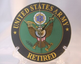 US Army Logo Retired CD Clock