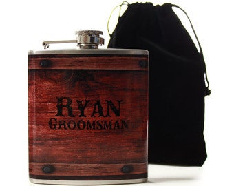 Personalized Flasks for Groomsmen, Custom Gifts for Your Wedding Party
