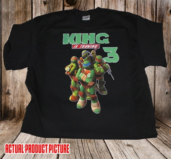 Personalized TMNT Teenage Mutant Ninja Turtles Birthday Shirt - tshirt custom