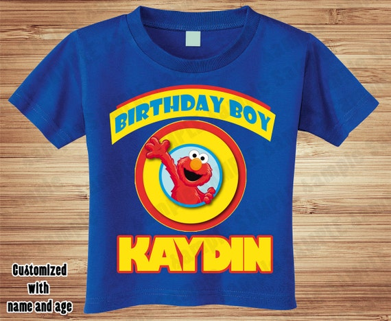 Personalized Boy or Girl Sesame Street Birthday T Shirt - Elmo, Big Bird, Cookie Monster, Party