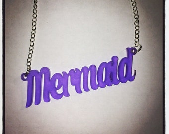 Mermaid Acrylic Necklace