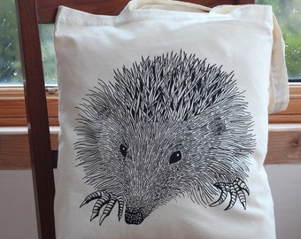 Hedgehog Cotton Tote Bag