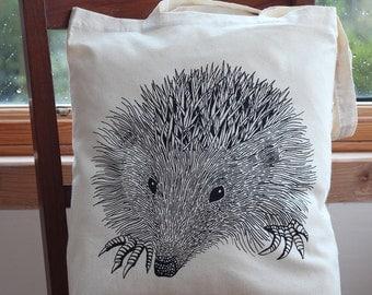 Hedgehog Cotton Tote Bag