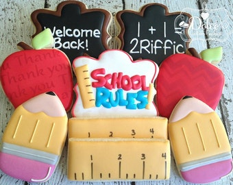 Back To School Teacher Appreciation Thank You Cookies